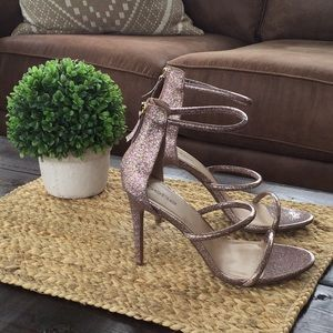 bebe Shoes - Brand new sparkly Bebe strappy heels